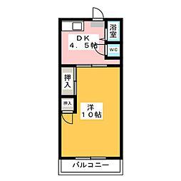 ジュネス砂田橋[2階]の間取り