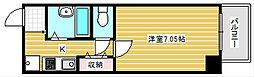 U-ro大国町[3階]の間取り
