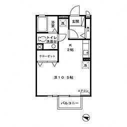 Casa・Virente[205号室号室]の間取り