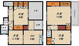 Osaka Metro長堀鶴見緑地線 蒲生四丁目駅 徒歩7分の賃貸一戸建て 1階4DKの間取り