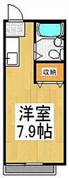 学園ウエスト[2階]の間取り
