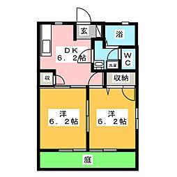 ディアコート大崎 B棟[1階]の間取り