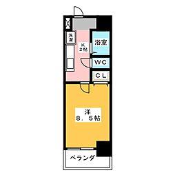 ウェステリア西大須[2階]の間取り