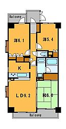 神奈川県横浜市中区弥生町5丁目の賃貸マンションの間取り