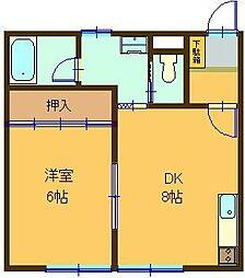 スカイハイツII[203号室]の間取り