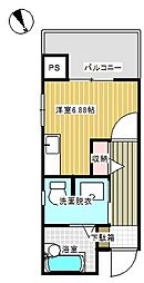 牛久中央ビル[205号室]の間取り