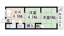 愛知県名古屋市守山区金屋1丁目の賃貸アパートの間取り