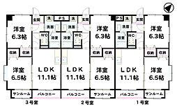 シヤンドゥ[203号室]の間取り