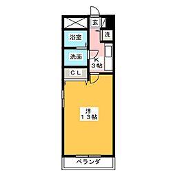 ステージ浜田[6階]の間取り