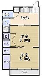 白神第3ビル[3階]の間取り