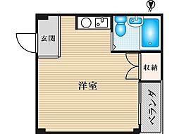 JPアパートメント旭Ⅱ[2階]の間取り