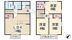 [テラスハウス] 兵庫県宝塚市山本丸橋2丁目 の賃貸【/】の間取り