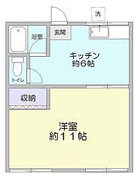 いづみハイツ[2階]の間取り