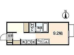 ポルトボヌール府中柳ヶ丘[2階]の間取り