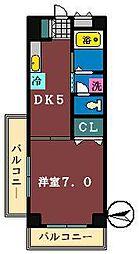 リーブル金杉[307号室]の間取り