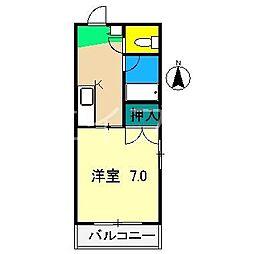 シティハウス比島[3階]の間取り