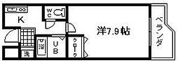 セゾンコート春木[7号室]の間取り