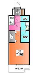 東京都北区王子2の賃貸マンションの間取り