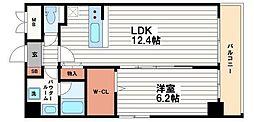 リンデンプラザ心斎橋[5階]の間取り