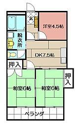 シャトレ津田新町[405号室]の間取り