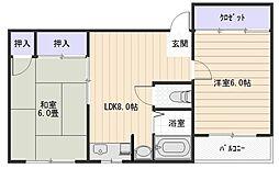 B・ビレッジ[2階]の間取り
