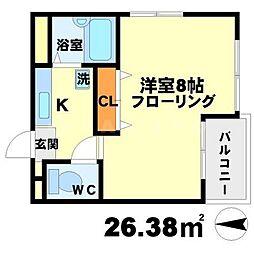 大阪府吹田市江坂町1の賃貸マンションの間取り