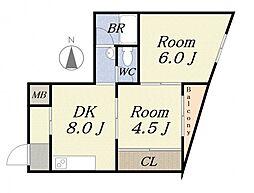 カツラビル[3階]の間取り