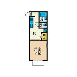ファーストヒロ[1階]の間取り
