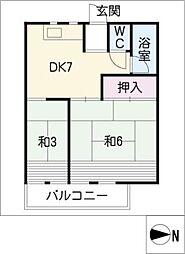 コーポいこい荘[2階]の間取り
