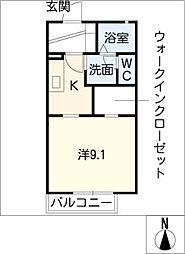 ソレイユ梅坪 A棟[1階]の間取り