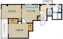 東京都西東京市東町2丁目の賃貸マンションの間取り