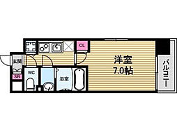 大阪府大阪市中央区玉造2丁目の賃貸マンションの間取り