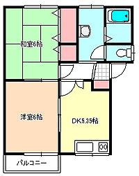 新潟県燕市分水学校町1丁目の賃貸アパートの間取り