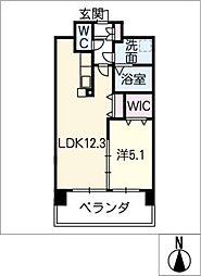 アンジュー VI[6階]の間取り