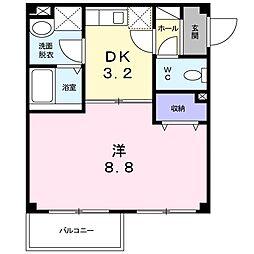 JR赤穂線 西大寺駅 徒歩12分の賃貸アパート 1階1Kの間取り