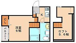 カーサフォー[1階]の間取り