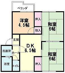 サニー秋山B[201号室]の間取り