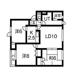 北海道札幌市北区北31条西9丁目の賃貸アパートの間取り