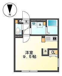 愛知県名古屋市北区石園町3丁目の賃貸マンションの間取り