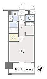ALFACIO DIFOND 8階ワンルームの間取り