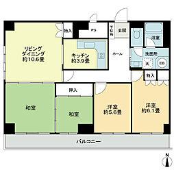 ライオンズマンション第2大通[8階]の間取り