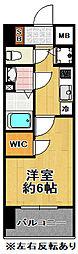 エステージ難波WEST[11階]の間取り