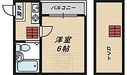 シャトー都島[4階]の間取り