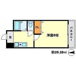 ライブステーション江坂[4階]の間取り