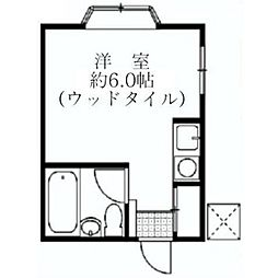 神奈川県横浜市戸塚区汲沢町の賃貸アパートの間取り