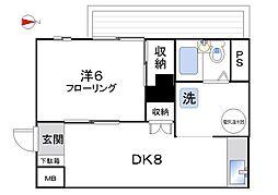 パイロットハウス北新宿[333号室]の間取り