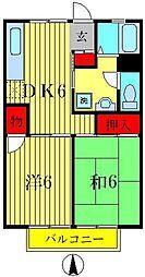 カームシバタ12[2階]の間取り