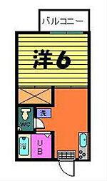第三カネヨシハイツ[2-D号室]の間取り