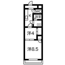 ロフティ31奈良屋[2-1号室]の間取り