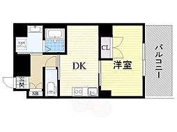 JR東海道・山陽本線 吹田駅 徒歩6分の賃貸マンション 1階1DKの間取り